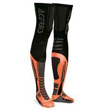 ACERBIS CALZE CALZETTONI X-LEG PRO SOCKS ARANCIO NERO MOTO CROSS L/XL 42 43 44