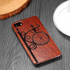 Natural Hand Made Carving Pattern Bamboo Wood Wooden Case For iPhone  6 7 7 Plus