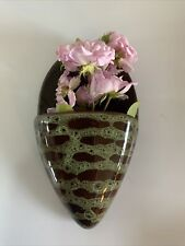 More details for vintage wall pocket posy holder ceramic country cottage retro brown