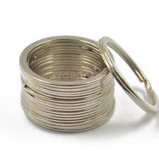 "Wholesale 10pcs Key Rings Split Flat Rings Silver Keychain Crafts 32mm 1.26"""