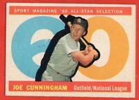 1960 Topps #562 Joe Cunningham VG-VGEX+ WRINKLE St. Louis Cardinals FREE SHIP