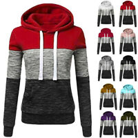 Women Casual Hoodies Sweatshirt Ladies Hooded Long Sleeve Tops Jumper Pullover U