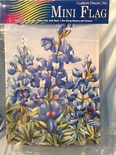 """Bluebonnets Double Sided Garden Mini Flag 12"""" x 18 """" Custom Decor 9872Fm $13.99"""