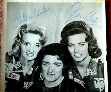 THE CARTER FAMILY SIGNED AUTOGRAPH PICTURE 1960s JUNE HELEN MAYBELLE ESTATE FIND