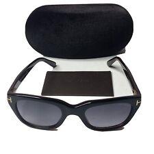 Tom Ford TF 237 FT0237  Snowdon Shiny Blk Havana Gradient Grey 05B Sunglasses