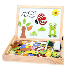 Kids Educational Animals Wooden Magnetic Puzzle Toys Jigsaw Baby Drawing Board