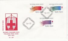 Finland 1977 Centenary of Finnish Red Cross Set FDC unadressed VGC