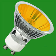20x Dimmable 50W Amber Coloured Halogen GU10 Reflector Spot Light Bulb Lamp