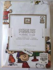 Pottery Barn Snoopy Woodstock Peanuts pillow sham cover dog Holiday Christmas Nt