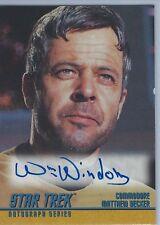 Star Trek Autograph Card A39 William Windom