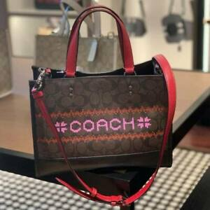 Flash Sale! Coach Dempsey Carryall Bag Bag with Fair Isle Graphic C1527