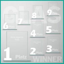 9er Glaspokal Serie mit Lasergravur günstig kaufen UNSER KAUFTIPP !