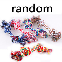 Pet Puppy Dog Tug Toy Cotton Braided Bone Rope Chew Teeth Cleanning Chew Toy Pet