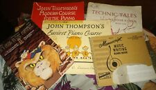Lot Of vintage Beginner Piano Books John Tompkins Easiest Piano course antique