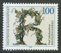 Germany 1990 MNH Mi 1446 Sc 1593 Riesling Vineyards.Riesling wines ** Grape