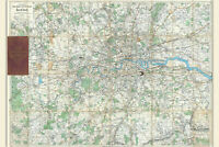 London; Antique Map; Bacon's New Map of the Environs of London 1895
