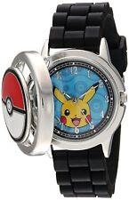 Pokemon Men's Quartz Metal and Silicone Casual Watch, Color:Black (Model: pok902