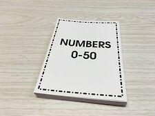 0 - 50 Number Set - Cards For Learning Center Preschool Kindergarten