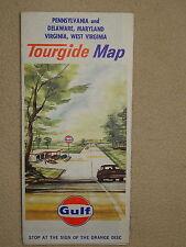 Gulf Pennsylavinia, Delaware, Maryland, Virginia, West Virginia Map 1964