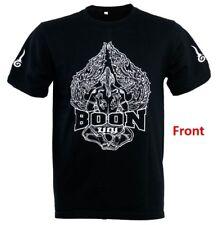 Boon Sports T-Shirt Muay Thai Boxing Nak Muay Black S,M, L, Xl Free Shipping