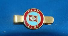 Vintage clan line shipping gilt and enamelled tie clip