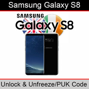 Samsung Galaxy S8 Unlock & PUK Code (All UK & Ireland Networks Supported)