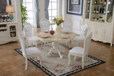 Baroque Antique Style Dining Room Set round Table + Classic 6x Chairs
