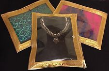 10 X Gold Indian Wedding Lehnga Suit Saree Gift Bag Garment Storage Packing Bags