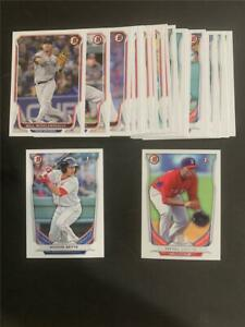 2014 Bowman Boston Red Sox Team Set 24 Cards With Prospects & Draft Betts Devers