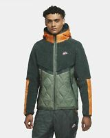 Nike Sportswear Heritage Jacket Men's Vintage Green Kumquat Outwear Activewear