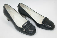 TOD'S women shoes sz 6.5 Europe 37 BLUE PATENT leather S8188