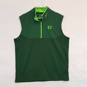 Nike Oregon Ducks UO Mens Medalist Tour Half Zip Golf Team Vest 639886 Sz L