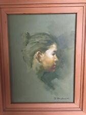 Vintage Philippine Oil Portrait of a Young Girl -Mystery Artist
