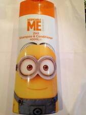 ** 2 X DESPICABLE ME 2 IN 1 SHAMPOO & CONDITIONER 400ml EACH MINION MADE KIDS