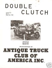 1982 Double Clutch magazine - 1927 White Truck Story