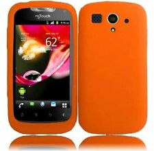 T-Mobile Huawei myTouch Rubber SILICONE Soft Gel Skin Case Phone Cover Orange