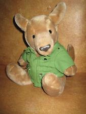 Stuffed Plush Dakin Kangaroo 1987 Green Safari Jacket