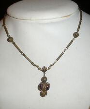 Vintage / Antique Purple Cab Rhinestone Necklace 1930's made in Czechoslovakia