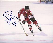 Chicago Blackhawks CHRISTIAN RUUTTU Signed 8x10 Photo