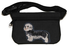 Embroidered Dog treat pouch bait bag for dog show. Dandie Dinmont Terrier.