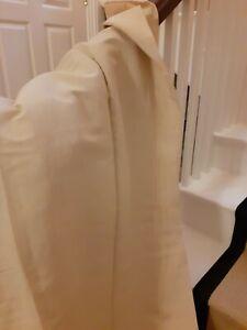 Lined linen/ cotton cream coloured curtains  (265cm long)