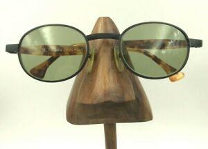 Vintage Donna Karan D050 127 Matte Black Oval Tortoise Sunglasses FRAMES ONLY