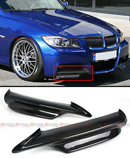 CARBON FIBER FRONT BUMPER SPLITTER FOR 06-08 BMW E90 E91 3 SERIES M TECH BUMPER