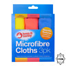PACK 3 x MICROFIBRE CLOTHS Soft Edgeless Flawless Car Detailing Definition UK