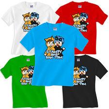 Dan TDM & Stampy Cat T Shirt minecart Cart DanTDM Adventures Gamers Youtube New
