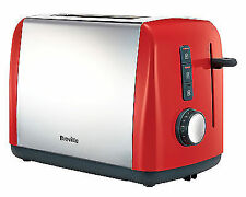 Breville VTT757 Colour Collection Toaster 2 Slice Stainless Steel Red