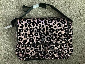 Justice Cheetah Sequin Messenger Bag