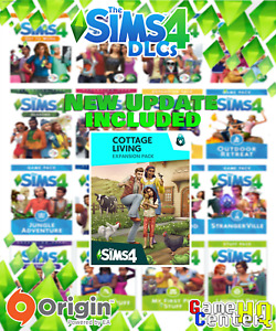 ⭐️The Sims 4 All Expansion Packs (DLC)⭐️ with Cottage Living ⭐️[PC & Mac] Origin