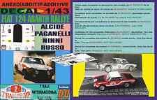 ANEXO DECAL 1/43 FIAT 124 ABARTH RALLYE A.PAGANELLI RALI TAP 1973 (01)