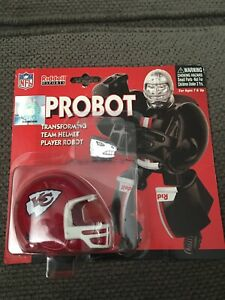 Riddell NFL Probot Kansas City Chiefs Helmet Robot Transformer Desk Toy Sealed!